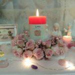 「愛の女神アフロディーテと美の天使ジョフィエルと送る遠隔ヒーリング」のための祭壇